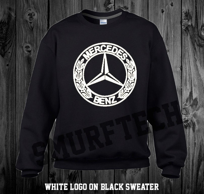Mercedes benz crewneck sweater multiple color choices for Mercedes benz sweater