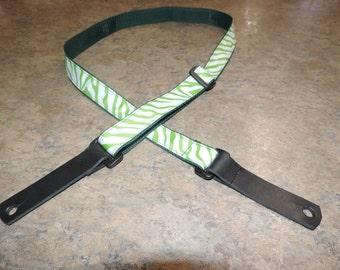 Green zebra stripe uke strap