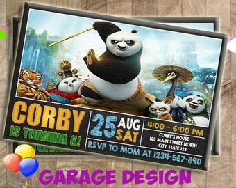 Kung Fu Panda Birthday Invitation, Kung Fu Panda Invitation, Kung Fu Panda, Birthday Invitation, Invitation