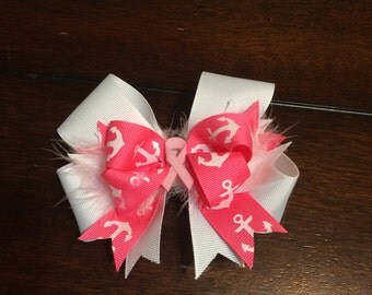 Pink & white ancer bow