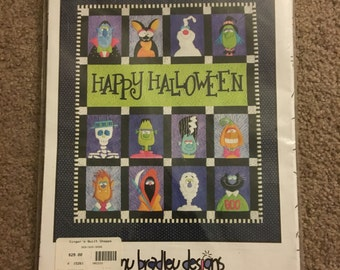Happy Halloween quilt pattern kit