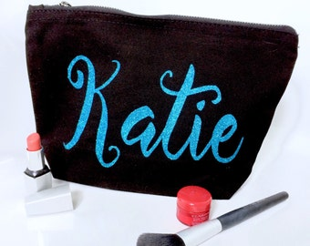 Personalised make up bag Bridal party Birthday Present Large make up bag Wash bag
