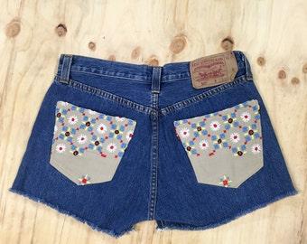Patched Levis Short Shorts