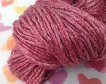 Hand-dyed silk yarn