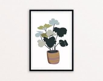 Granny's Bonnet - Digital print of an original illustration, A4 and A5