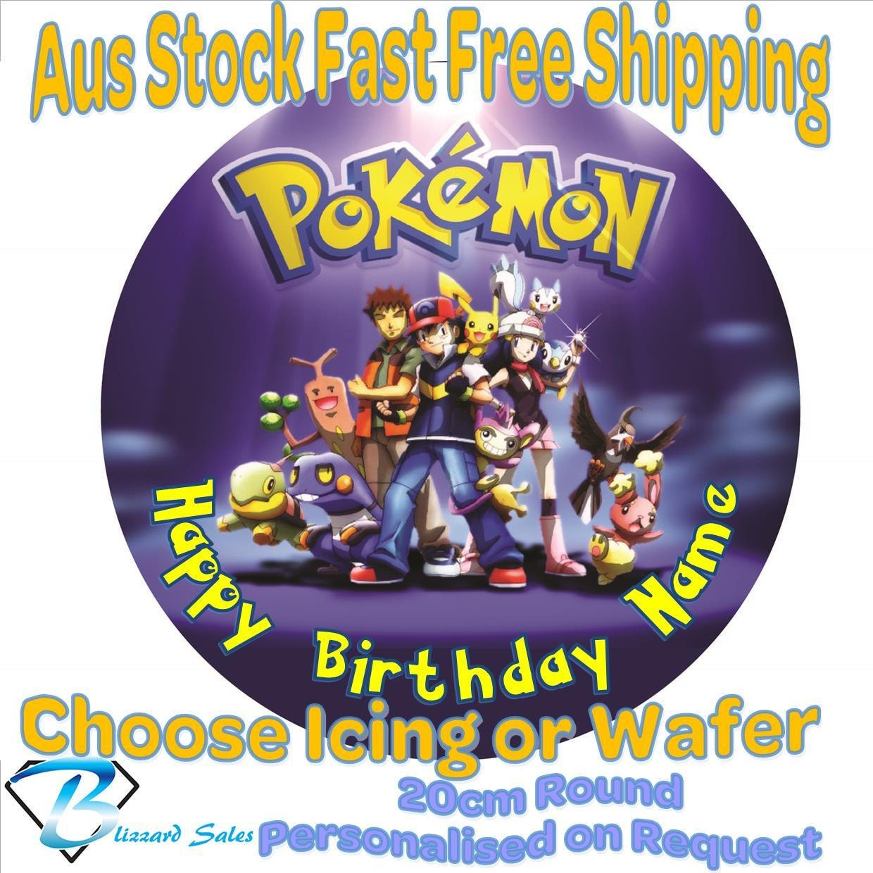 Pokemon Edible Image Cake Topper Australia