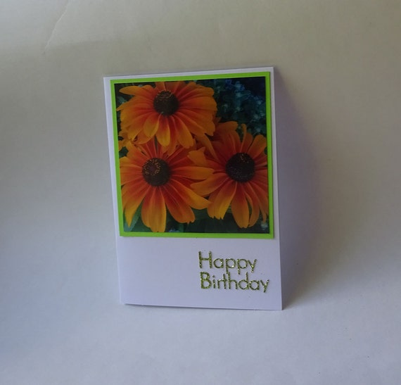 Birthday Card with Yellow Flowers - #1995
