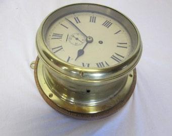 1918 Antique WWI Era Buren Swiss Made Ships Clock