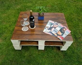 Reclaimed wood indoor or outdoor coffee table