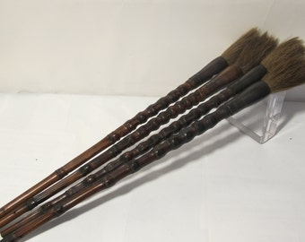 ON SALE Vintage Bamboo  Calligraphy Brush