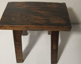 Vintage Small  Wood Stool