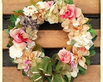 Fall Wreath-AUTUMN in the MORNING WREATH-Handmade Decorative Wreath-Interior/Door Wreath