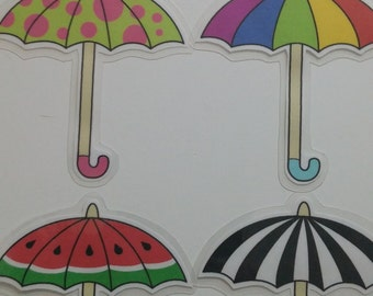 Colorful Patterned Umbrella Bookmarks