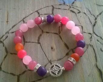 Bracelet of ⭐ jade ⭐ pink
