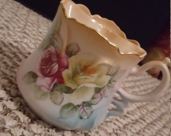 Brandenburg Hand painted Flowery Tea Cup