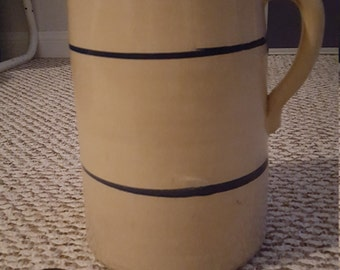 Over 40 Year Old Handmade Red Clay Pouring Jug