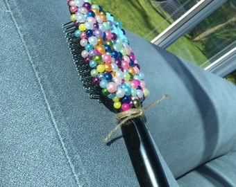 Beaded brush , made to order with your choice if colour & figure