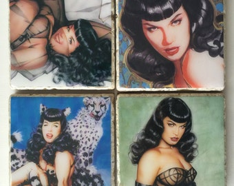 Bettie Page Coasters
