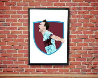 Mark Noble Football Artwork Print