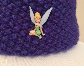 Little Girl's Cowl with Tinkerbell Button