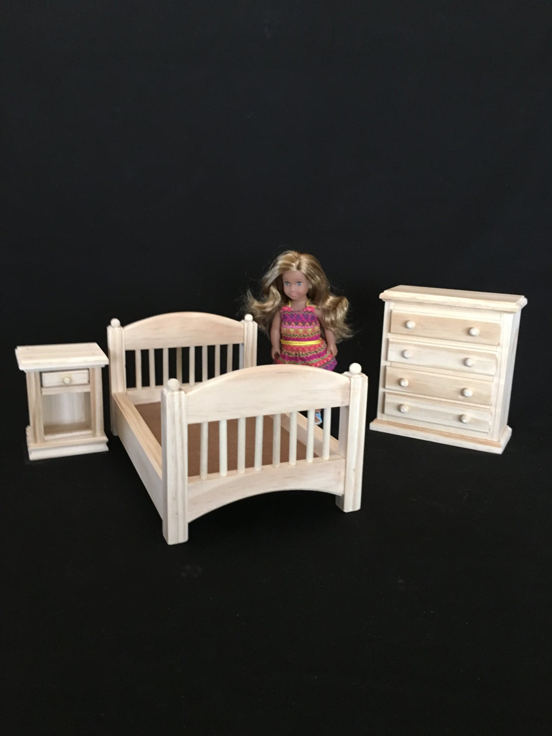Bedroom Set For American Girl Mini Doll And All Other