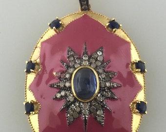 pave diamond bakelite with kynite pendant