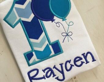 First 1st Second 2nd Birthday Embroidered Short or Onesie // Boys 1st Birthday Shirt // Cake Smash Pictutes // Embroidered Birthday Shirt