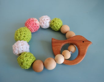 All Natural, Eco Friendly Baby Teething Ring
