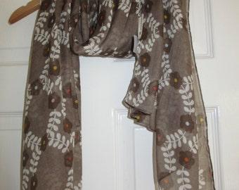 Orla Kiely Floral Multi Stem Print Scarf Stole Wrap Gift