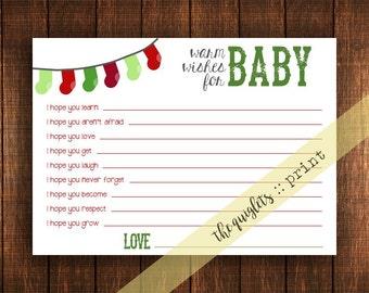 Winter Baby Shower (gender neutral) - Warm Wishes Cards - Digital Download - 5x7 Printable