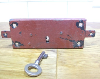 Working French Vintage Door Lock and key