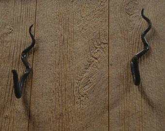 Hand Forged Snake Gun Hooks   Blacksmith Made