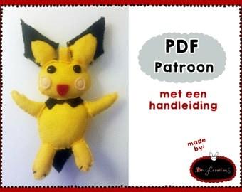 Pattern Pichu plush (Dutch)