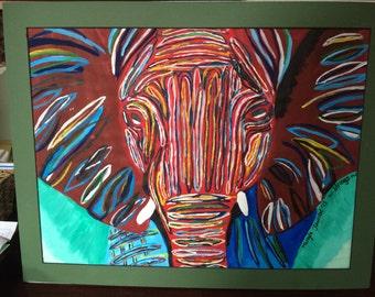 Elephant Painting~ Acrylic