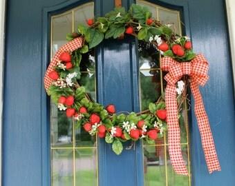 Strawberry Picnic Wreath