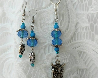 Interchangeable charm necklace and earring set