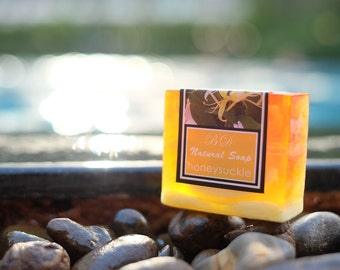 Honey Suckle Soap - Handmade Soap, Glycerin Soap, Handcrafted Soap, Natural Soap