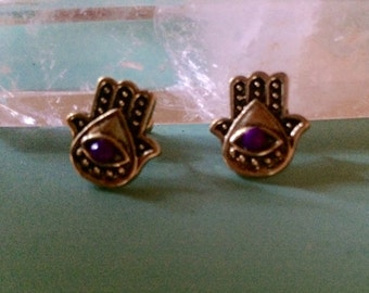 Gold Hamsa Earrings