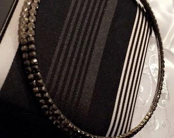 Silver black Rhinestone choker necklace beautiful gift