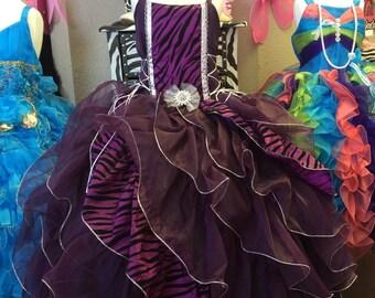 Purple zebra princess dress