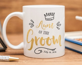 Aunt of the Groom mug, personalized Aunt of the Groom gift