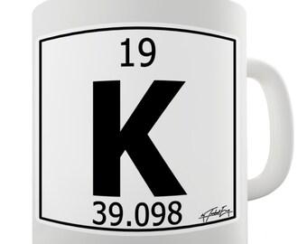 Periodic Table Of Elements K Potassium Ceramic Mug