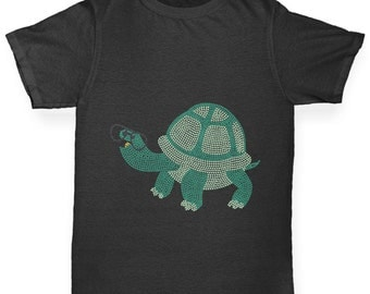Girl's Totally Nerdy Turtle T-Shirt