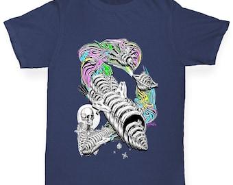 Girl's Skellington Rainbow Rocket T-Shirt