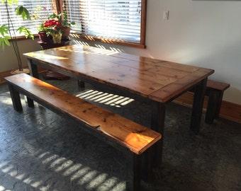 Rustic Harvest Table