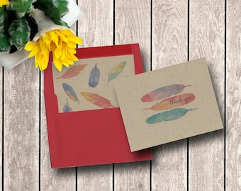 Feathered Thanks | Note Card Set
