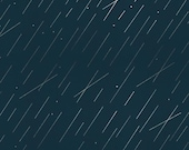 Precipitation in Teal Metallic|| Raindrops by Rashida Coleman-Hale for Cotton + Steel Fabrics || Half Yard || One Yard || Cotton Woven