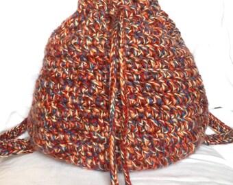 Multicolored Handmade Backpack