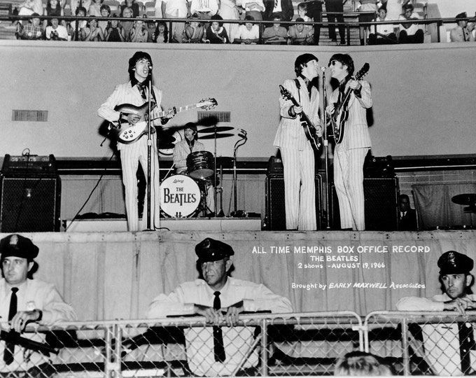 The Beatles at the Mid-South Coliseum, Memphis, Tennessee August 19, 1966 - 5X7 or 8X10 Photo (AA-252)