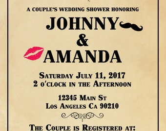 Couple's Wedding Shower Invitation